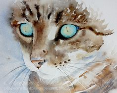 Peppermint Patty's Papercraft: Sunday Watercolor 2: Michele's cats