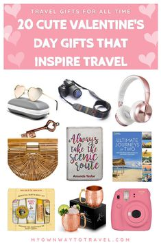 20 cute #valentinesgifts to inspire #travellovers family and friends, wanderers, and of course your wanderlust valentine. The listed #ValentinesDay gifts are also completely alright to buy and present any of your suitable or special day. Yes, #travelgifts for all time for any budget. #travel #travelinspiration #traveltips #travelaccessories #giftideas #top20 #myownwaytotravel