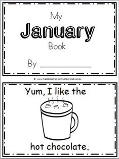 "Free January Book for Kindergarten Practice reading the words ""I like the…"" There are 10 pages in this January mini book. You can print and use all the pages or just the ones tha…"