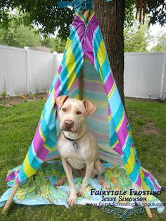 DIY dog teepee!!