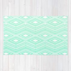 Hipster Mint Green Arrows Aztec Tribal Pattern Rug by Girly Road | Society6