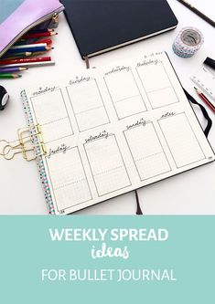 A well designed weekly spread can bring structure to your bullet journal, improve productivity and provide a satisfying creative outlet. I'm sharing some practical ways to use a bullet journal weekly spread and how to design one for your journal. #weeklyspread #weeklyspreadideas #bulletjournalweeklyspread #bulletjournal #bulletjournaling #bulletjournalideas #spaceandquiet #weeklylog #bulletjournalweeklylog #improveproductivity #customizejournal #journaling #planning #planner