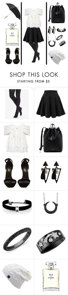 """""""School day"""" by milenchik ❤ liked on Polyvore featuring Express, Sea, New York, Mansur Gavriel, Yves Saint Laurent, Kenneth Jay Lane, Chanel and Alexander McQueen"""