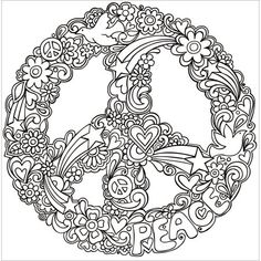 Coloring Mandala Flowers Lovely Free Printable Flag Day Coloring Pages New Psychedelic Peace Coloring Pages Psychedelic Peace Sign and Mandala Coloring Pages, Coloring Pages To Print, Coloring Book Pages, Printable Coloring Pages, Coloring Sheets, Lisa Frank Coloring Books, Plotter Silhouette Portrait, Coloring Pages For Grown Ups, Peace And Love