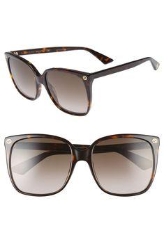 6b4ace5de1679 Gucci 57mm Oversized Sunglasses - black OR havana  )   Wishing List ...