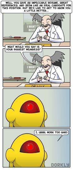 Dr. Wily's job interview #dorkly #megaman