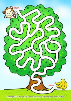 Body Preschool, Preschool Learning Activities, Fun Math, Preschool Activities, Mazes For Kids Printable, Kids Math Worksheets, Puzzles For Kids, Logic Games For Kids, Maze Worksheet