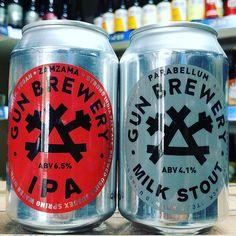 Zamzama - 6.5% IPA & Parabellum - 4.1% Milk Stout from @gunbrewery back in stock