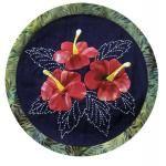 Applique & Sashiko Hibiscus Pattern