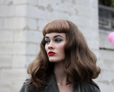 "Naughtee Bits: ""back to Dior, i love the vintage feel betty bangs, with a muted punk edge, it's like rockabilly on vacation!"""