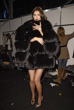 """midnight-charm: """" Bianca Balti at Dsquared Fall / Winter 2008 """" chateau-de-luxe.tumblr.com"""