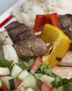 Beef Kebabs With Garlic Sauce