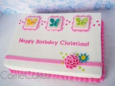 summer theme girly cake By Corrie76 on CakeCentral.com