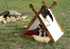 viking style dog tent