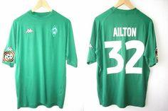 Saison: 2001/2002 Home  Typ: Fanshop  Spieler: Gonçalves da Silva Ailton  (95% Polyester 5% Lycra)  Für mich das schönste Werdertrikot der letzten Jahre - Wunderschöner Grünton und ohne nervigen Sponsor.