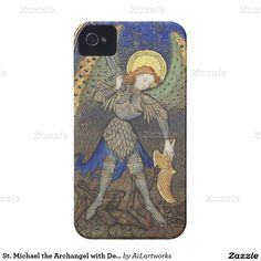 St. Michael the Archangel with Devil iPhone 4 Cases