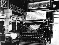 When the Panama-Pacific International Exposition opened in San Francisco looked fabulous: Bedecked with ornate, European-inspired architecture and an array of technological wizardry, the city… Vintage Typewriters, World's Fair, Panama, San Francisco, Lettering, Architecture, City, Objects, Red