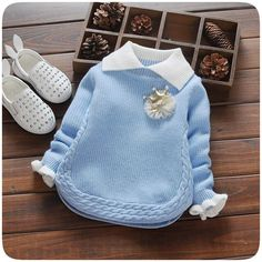 2018 New Autumn & Winter Newborn Girls Sweaters Cotton Fashion Flower Pattern Clothing Children Sweaters For YearsFashion children sweater autumn winter warm girls knitted turn-down collar sweaters baby outwearDiscover thousands of images about undef Winter Newborn, Baby Girl Winter, Winter Kids, Girls Sweaters, Baby Sweaters, Pullover Sweaters, Woolen Sweater Design, Baby Girl Fashion, Kids Fashion