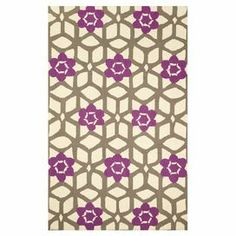"""Adorned with an interlocking trellis motif with floral accents, this hand-hooked wool rug adds a lovely touch of style to your master suite or living room decor.  Product: RugConstruction Material: 100% WoolColor: PurpleFeatures:  Hand-hookedTrellis motifPile Height:0.5""""  Note: Please be aware that actual colors may vary from those shown on your screen. Accent rugs may also not show the entire pattern that the corresponding area rugs have.Cleaning and Care: Spot treat with a mild detergent…"""