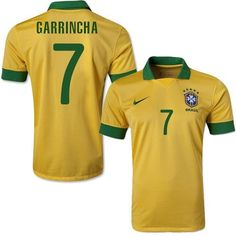Brazil #7 Garrincha Yellow Home Soccer Country Jersey! Only $21.50USD