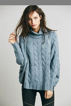 Free People Following Directions Zipper Cape Sweater