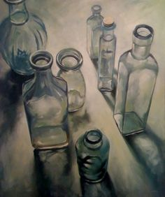 Drawing bottles. Wanna do it. Pencil...