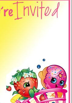 Download the PDF Birthday banner HERE   Alphabet Letters for Personalized Banner HERE      Shopkins Banner PDF HERE      Shopkins Birt...