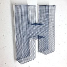 French ornamental Letter H  in wire netting by LaFabriquealettres, €39.00