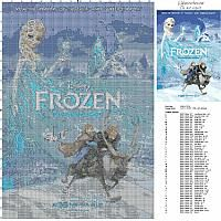 Disney Frozen cartoon movie poster free cross stitch pattern