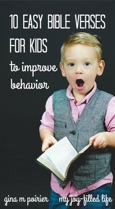 10 Easy Bible Verses for Kids—To Improve Behavior #ParentsKids&Parenst