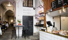 STOCKHOLM Snickarbacken 7 (a beautiful café, exhibition space and a concept store all in one) Stockholm Food, Stockholm Restaurant, Sweden Stockholm, Stockholm Shopping, Stockholm Travel, Cafe Restaurant, Cafe Shop, Cafe Bar, Hostels
