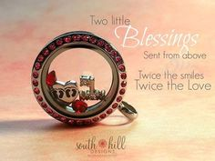Twice the blessings! Show your love with a South Hill Designs locket! http://SouthHillDesigns.com/ArleneWhite