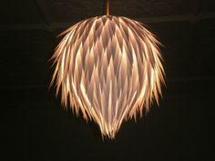 Artichoke Handmade Hanging Paper Light Shade - wedding decor, event lighting via Etsy just gorgeous