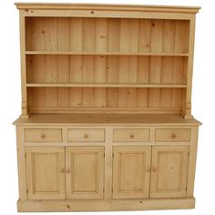 A Sturdy Statement Piece In Solid Wood This Hutch From English Farmhouse Furniture Slides Into Traditional Dining Rooms With Rustic Style