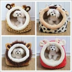 Indoor+Dog+House | Soft Collapsible Indoor Pet Dog Cat Bed House Small #PuppyBeds