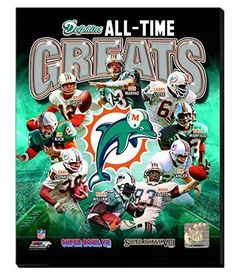 Miami Dolphins All Time Great players Canvas Framed Over With 2 Inches Stretcher Bars-Ready To Hang- Awesome & Beautiful Pro Football Teams, Football Memes, Sports Memes, Nfl Sports, Football Season, Football Records, Miami Football, 1972 Miami Dolphins, Nfl Miami Dolphins