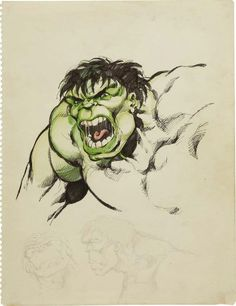 John Byrne - The Hulk Sketch Original Art The Green-Skinned Goliath is captured in all his - Available at 2008 February Vintage Comics &. Comic Book Artists, Comic Book Characters, Comic Artist, Comic Character, Comic Books Art, Marvel Comics Superheroes, Hulk Marvel, Hulk Sketch, Hulk Art