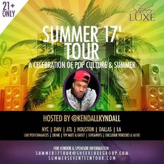 Summer 17 Tour hosted by social media superstar @kendallkyndall.  The Celebration of Pop Culture and Summer.  This event is designed to bring together lovers of music and pop culture to socialize with the added sense of humor that can only be provided by their best fran. GIVEAWAY ALERT  We'll be giving away tickets to the NYC party. Sign up for our newsletter to be the first to know.  #ad #litsummer17 #bestfran #summer17 #summer17tour #kendallkyndall #vh1lhh #instafunny #melaninking…