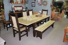 Rough Cut Table Set Wormy Maple Natural Top Chocolate Bottom Visit Our Showrooms For