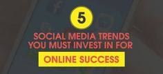 You must be aware of the different emerging trends in social media to keep up and improve the quality of your services. Long-term success goes along with continuous learning. Here are 2016's social media trends you must invest in for your business's online success. #SocialMedia #Marketing