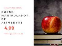 Curso Manipulador alimentos por 4,99 http://www.qualitatis.es/es/cursos-online-calidad-sanitaria