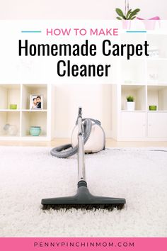 If you have kids or pets, you know you need a carpet cleaner. But, with the little hands and feet that walk on your carpets, you want to make sure you use something that is safe but yet effective. This DIY carpet cleaner is both safe and effevtive and best of all budget friendly. Diy Carpet Cleaner, Carpet Cleaners, Easy Craft Projects, Craft Ideas, Clean My House, Natural Cleaners, Cleaners Homemade, How To Make Homemade, Easy Diy Crafts