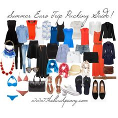 Summer Euro Trip Packing List by oliviamccaskill on Polyvore