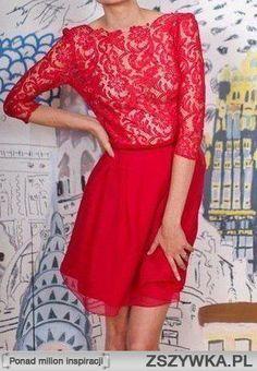 boska czerwona sukienka