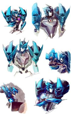 And here's some first try Blurr doodles from earlier today, because he stole my heart in a big blue fast f l a s h