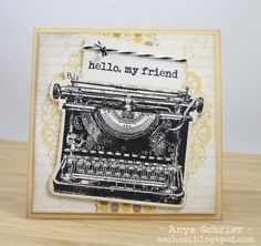 love the typewriter and doily