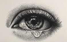 Dotted Drawings, Pencil Art Drawings, Art Drawings Sketches, Stippling Tattoo, Stippling Drawing, Black And White Art Drawing, Black Pen Drawing, Pointillism Tattoo, Drawings Pinterest