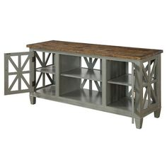 Coast to Coast 91812 Two Door Media Console in Green/Brown