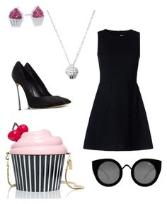 Untitled #150 by yasmeenf on Polyvore featuring polyvore, fashion, style, RED Valentino, Casadei, Kate Spade, Forever 21 and Quay