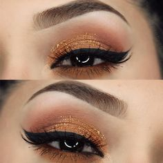 We're loving all these fall looks! penelopeobeso used the Fifth Edition - 120 Color Eyeshadow Palette for her autumn eye look.